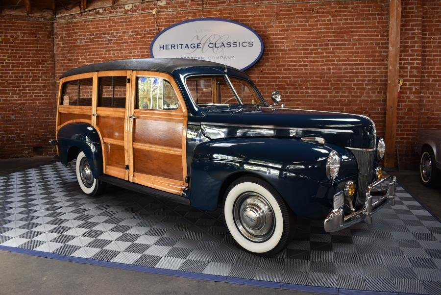 1941 Ford DeLuxe Woodie Wagon = Blue(~)Brown $79.5k For Sale (picture 1 of 6)