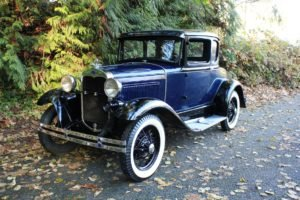 1930 Ford Model A Coupe = clean Blue(~)Grey driver $22k For Sale