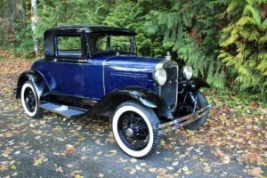 1930 Ford Model A Coupe = clean Blue(~)Grey driver $22k For Sale (picture 2 of 6)
