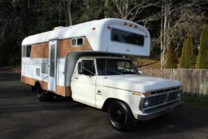1975 Ford Camper Truck = RV Manual V-8 driver $8.9k