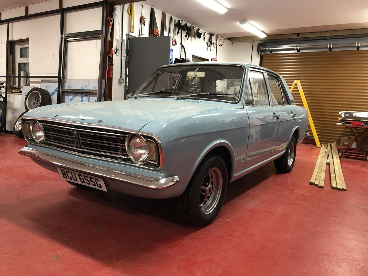 1969 FORD CORTINA MK2 REGD AS 2.0 GT PINTO SA CAR NEVER WELDED! For Sale (picture 2 of 6)