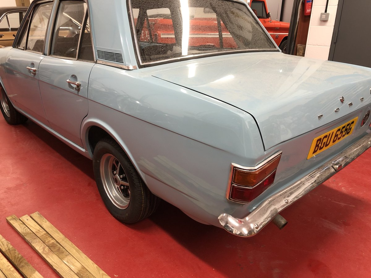 1969 FORD CORTINA MK2 REGD AS 2.0 GT PINTO SA CAR NEVER WELDED! For Sale (picture 4 of 6)