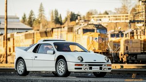 1986 Ford RS200 = clean Ivory(~)Red 8.3k miles  $295k For Sale