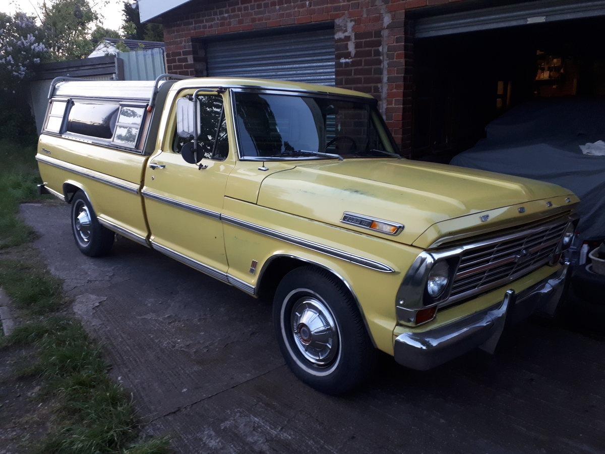 1969 Ford F100 Ranger Pickup For Sale (picture 1 of 6)
