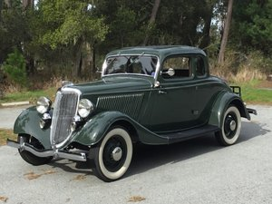 1934 Ford Deluxe Coupe = very Rare RHD + Restored $46.5k For Sale