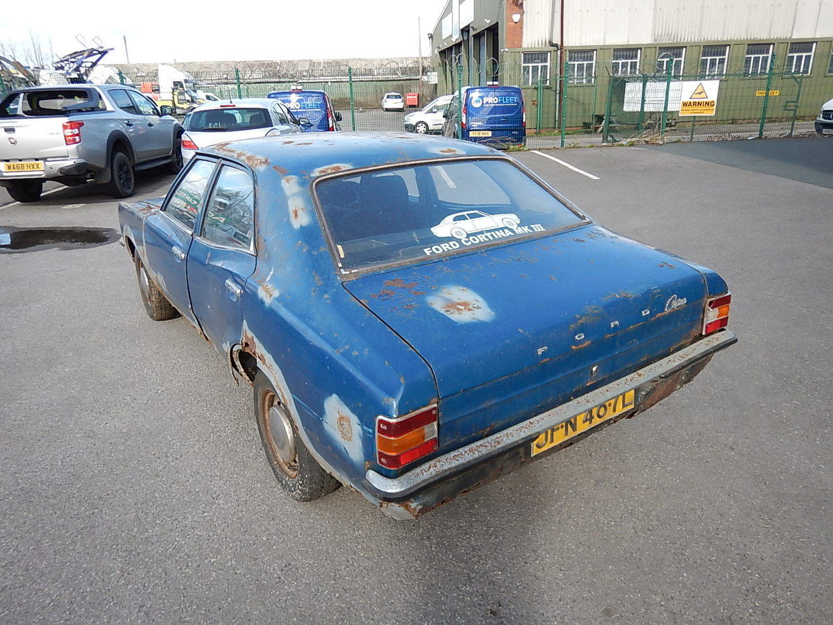 1973 FORD CORTINA Mk3 1.3 Base Saloon ~ Genuine Barn Find ~  SOLD (picture 4 of 6)