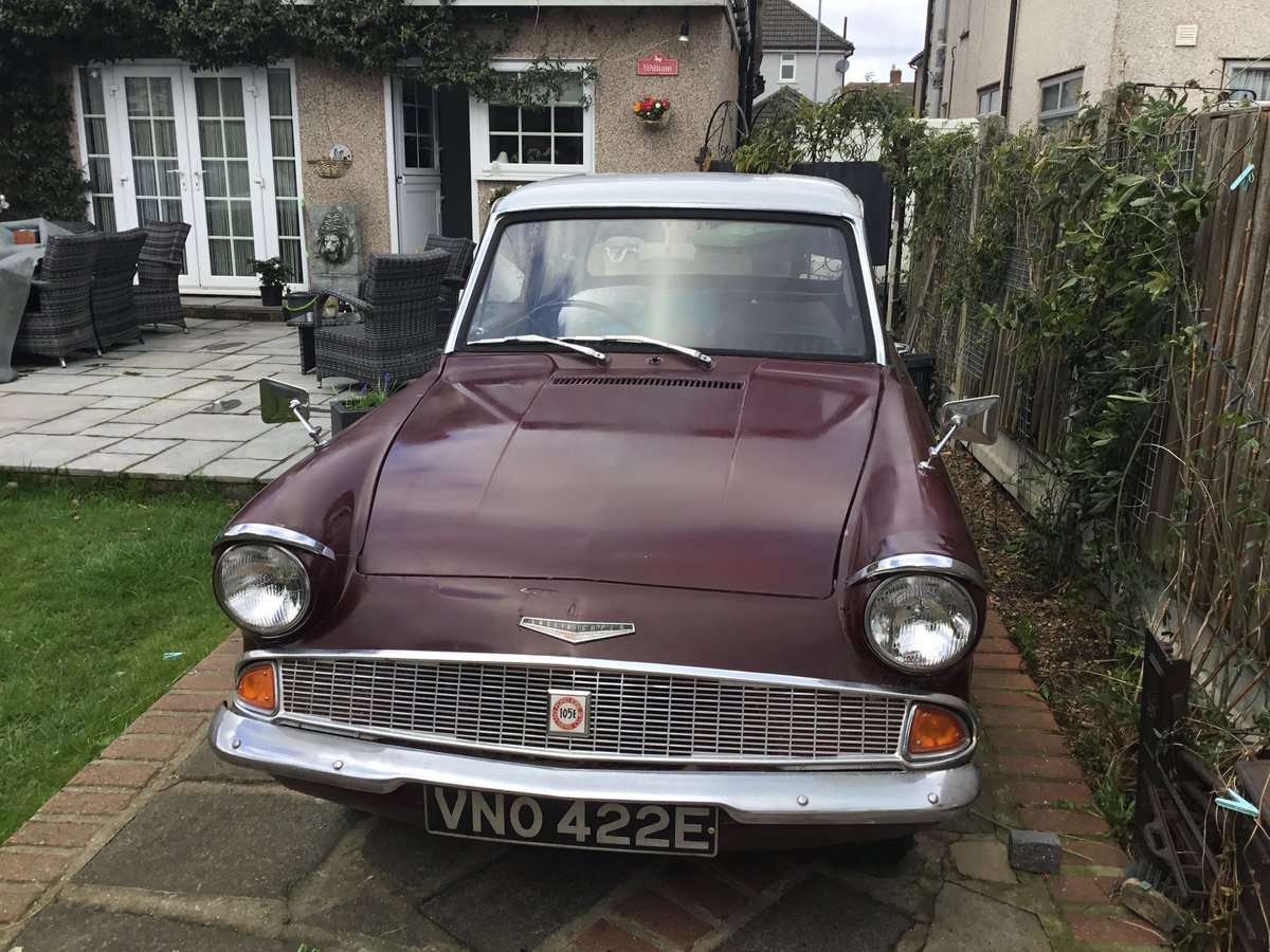 1967 Anglia 1200 Super Maroon and Light Grey SOLD (picture 1 of 4)