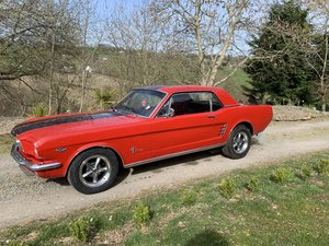 1966 Candy Apple Red Magentic S550 Racing Stripes 289 For Sale