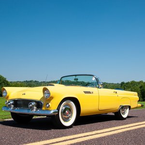 1955 Ford ThunderBird Convertible = Yellow Restored $41.9k For Sale