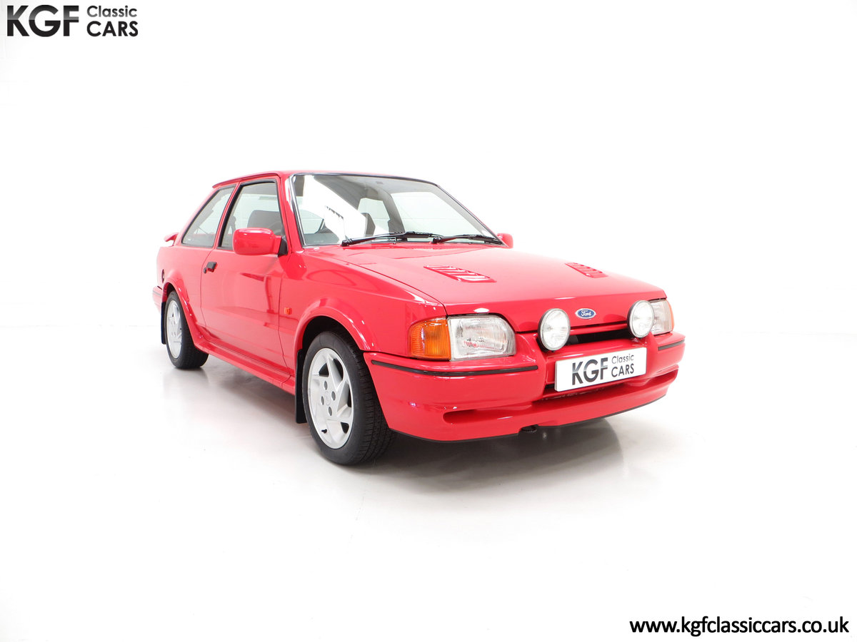 1990 A Virtually New and Concours Ford Escort RS Turbo SOLD (picture 1 of 6)