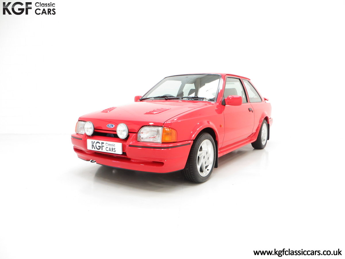 1990 A Virtually New and Concours Ford Escort RS Turbo SOLD (picture 2 of 6)
