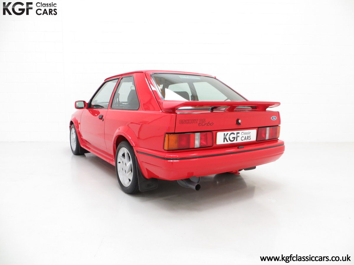 1990 A Virtually New and Concours Ford Escort RS Turbo SOLD (picture 4 of 6)