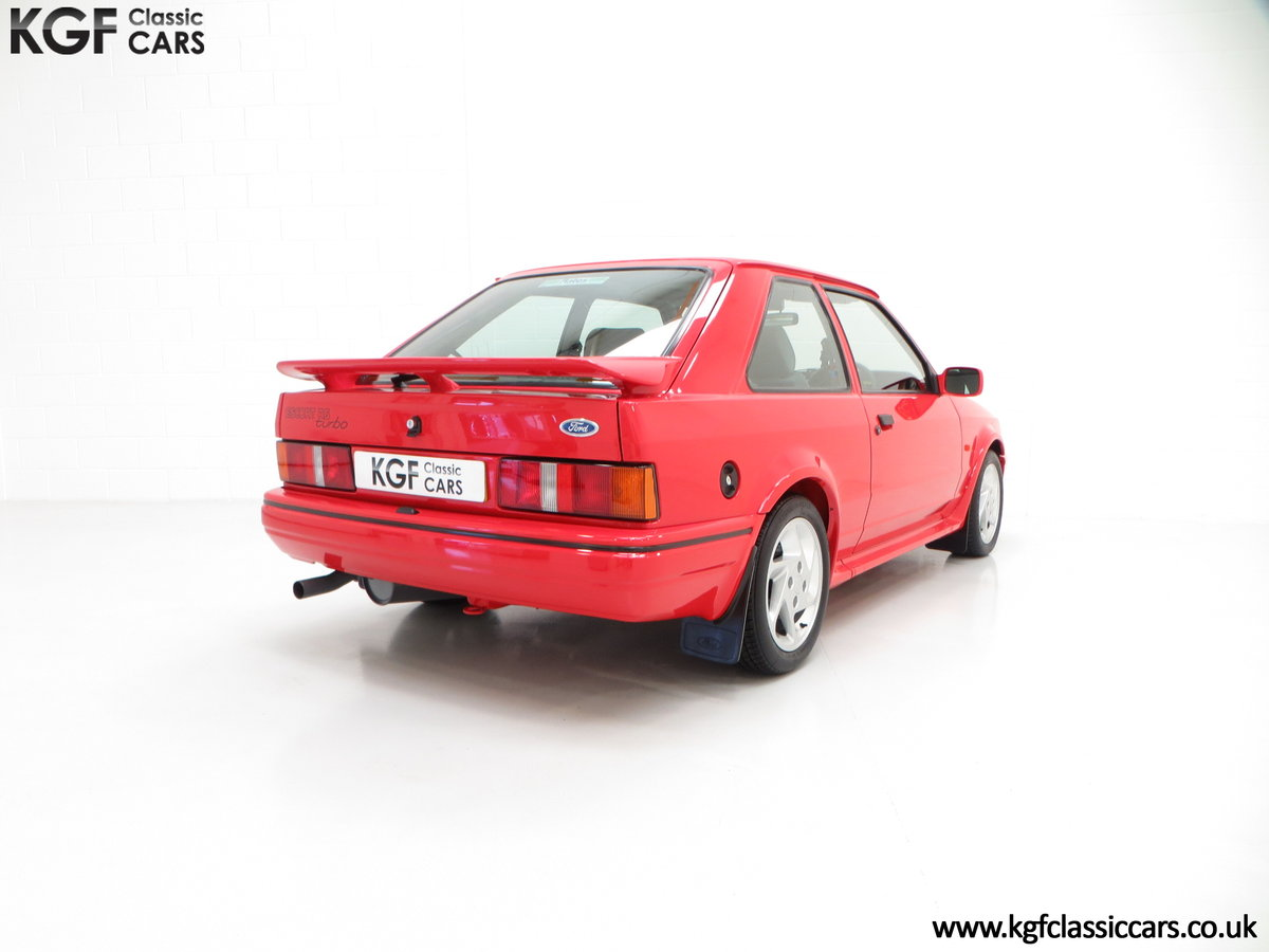 1990 A Virtually New and Concours Ford Escort RS Turbo SOLD (picture 5 of 6)