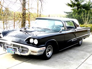 1960 Ford ThunderBird HardTop = clean Black 79k miles $14.5k For Sale