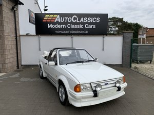 1985 Ford Escort MK3 Cabriolet, JUST 5,000 miles since new! SOLD