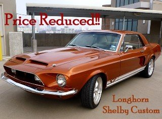 1968 Mustang Longhorn Shelby = Custom 5.0 FI Rare 1 off $45k For Sale