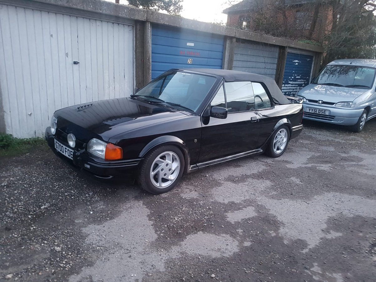 1989 Escort XR3i Cabriolet For Sale (picture 1 of 6)