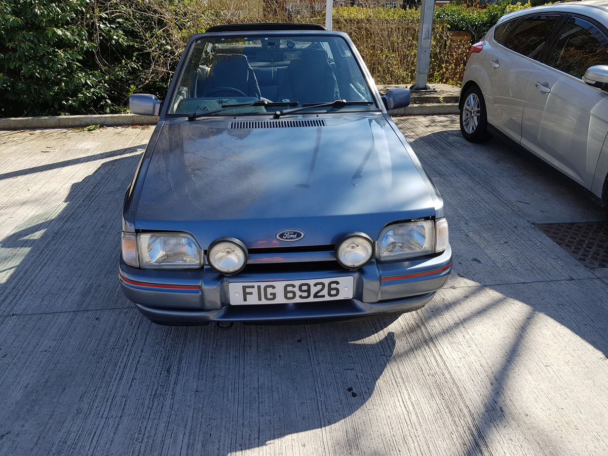 1990 Ford Escort XR3i Cabriolet up for sale For Sale (picture 1 of 6)