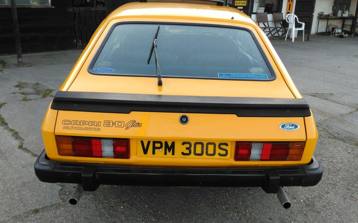1978 FORD CAPRI 3.0 GHIA AUTO For Sale (picture 2 of 6)
