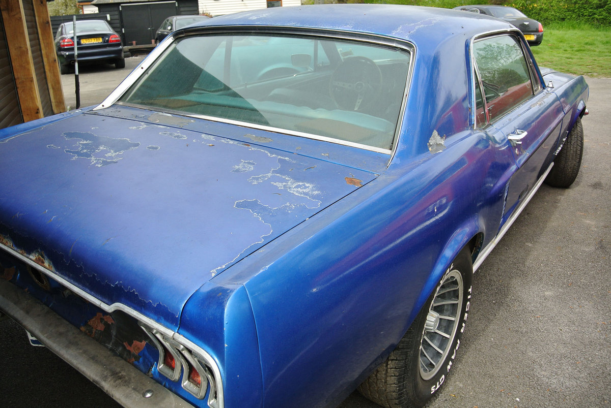 1967 Blue Ford Mustang V8 Auto PROJECT SOLD (picture 3 of 6)