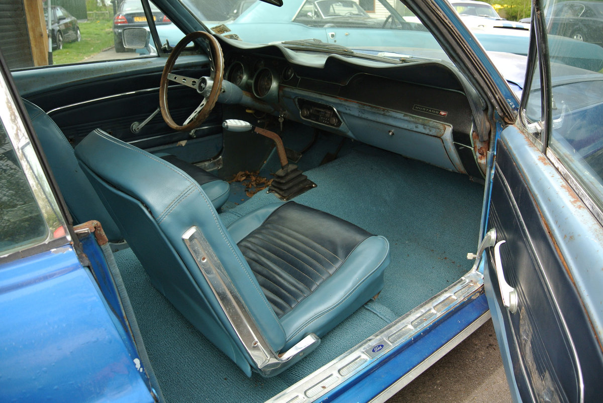 1967 Blue Ford Mustang V8 Auto PROJECT SOLD (picture 4 of 6)