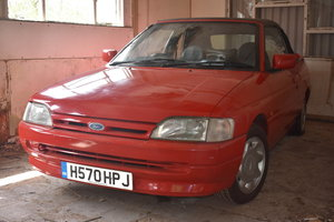 A 1991 Ford Escort Mk 4 1.6i cabriolet - 23/06/219 For Sale by Auction
