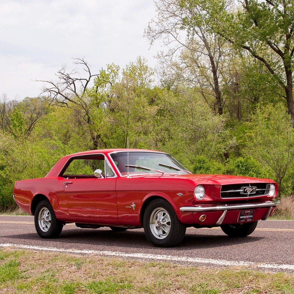 1965 ford mustang coupe 289 4 speed manual red obo for sale picture