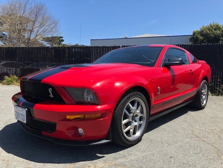 2008 Shelby GT500 Coupe = Manual low 7.4k miles Red $29.5k   For Sale (picture 1 of 1)