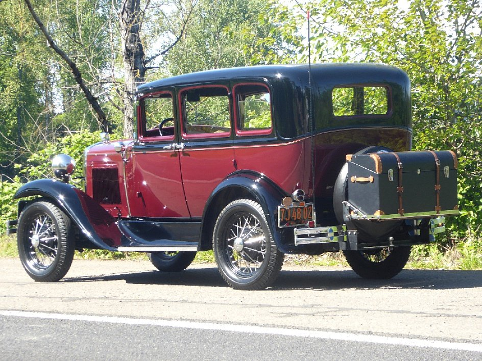 1931 Ford Sedan = Clean Restored Burgundy(~)Grey $21.5k  For Sale (picture 2 of 6)