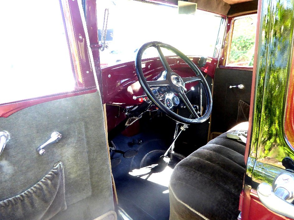 1931 Ford Sedan = Clean Restored Burgundy(~)Grey $21.5k  For Sale (picture 4 of 6)