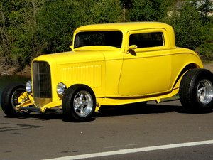 1932 Ford Coupe = Custom Restored Yellow(~)Tan V-8  $37.5k For Sale