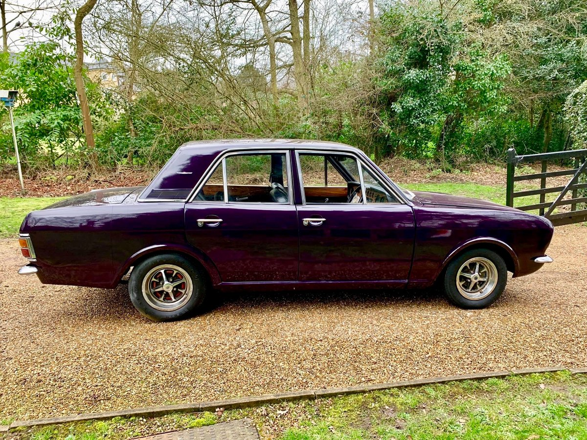 1969 CORTINA 1600E 3 owner Aubergine For Sale (picture 6 of 6)
