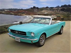 1965 Ford Mustang K-Code Convertible = Blue Manual $64.5k For Sale
