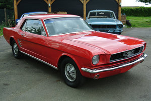 1966 Red Ford Mustang V8 Auto Coupe PROJECT For Sale