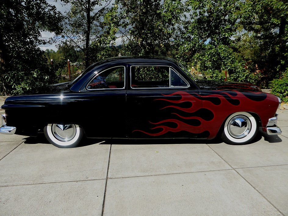 1951 Ford She Box Coupe = Custom Flames 302 auto $27.5k For Sale (picture 2 of 6)
