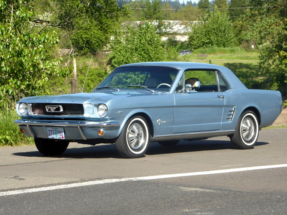 1966 Ford Mustang Coupe = A code 289 auto low miles $18 5k