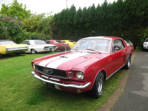 1966 Mustang Coupe 302 fuel injected V8, Automatic, Pony Interior SOLD