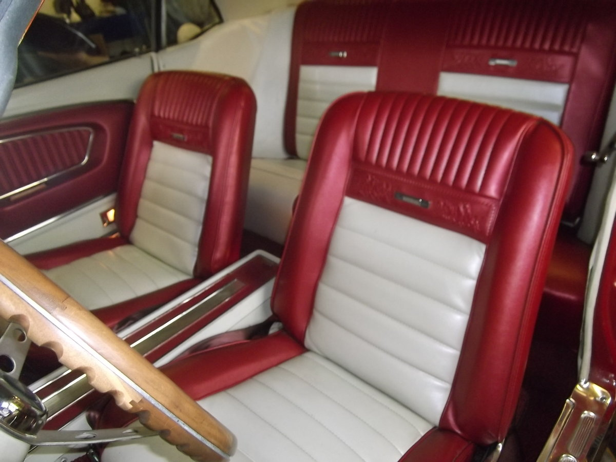1966 Mustang Coupe 302 fuel injected V8, Automatic, Pony Interior For Sale (picture 6 of 6)