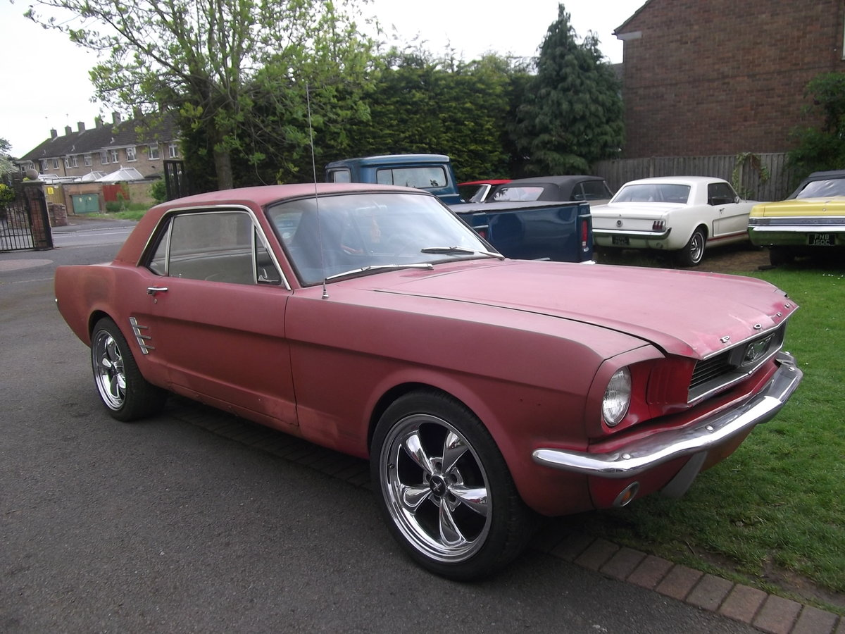 1966-Mustang-Coupe-289-v8-Automatic, Needs Paint SOLD (picture 1 of 6)