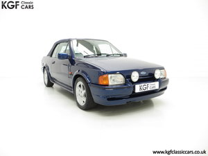 1990 The Special Edition Ford Escort XR3i Cabriolet SOLD