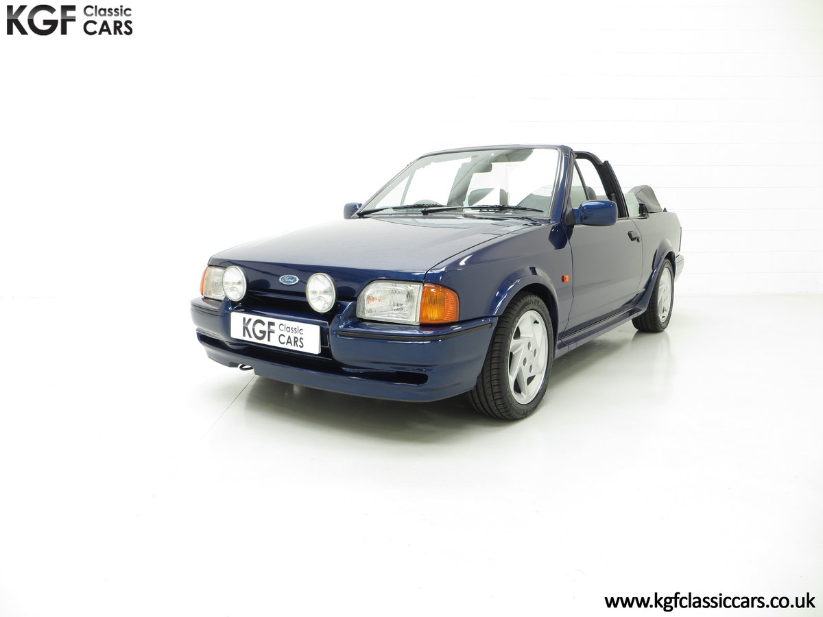 1990 The Special Edition Ford Escort XR3i Cabriolet SOLD (picture 2 of 6)