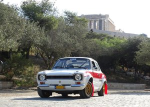 Picture of 1968  Ford Escort Mk1 Twin Cam signed by J.M. Latvala
