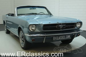 Ford Mustang cabriolet 1965 V8 Silver Blue Metallic For Sale