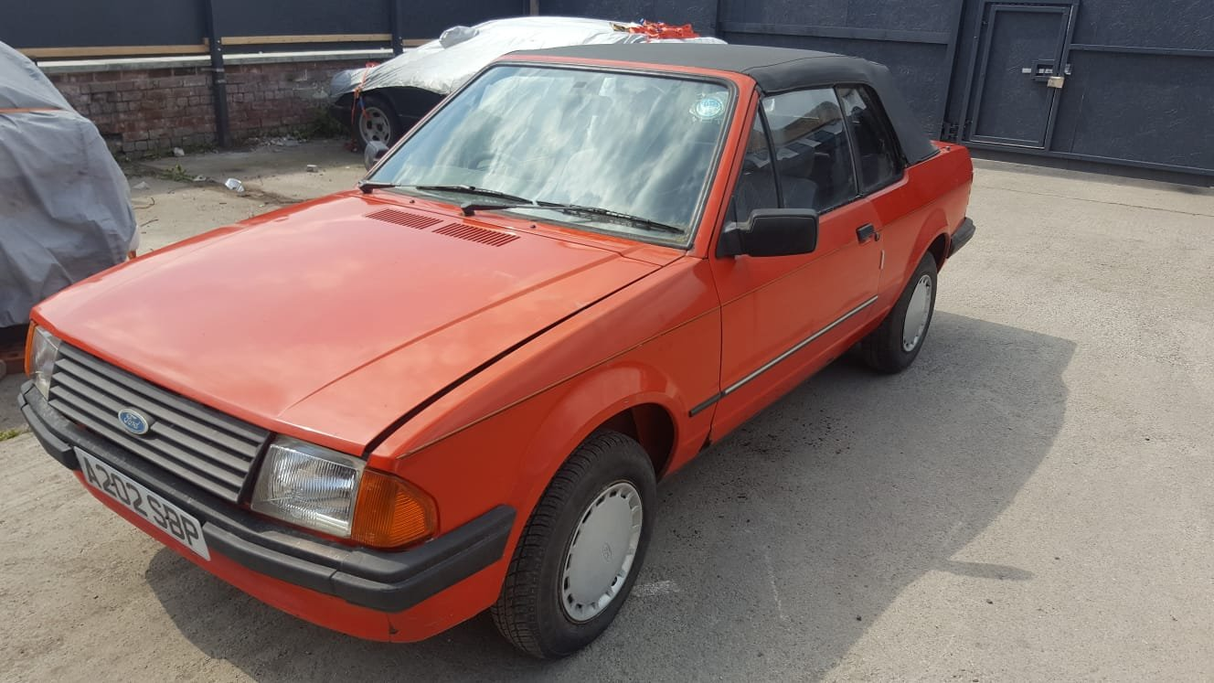 1984 Ford escort mk3 1.6 convertable For Sale (picture 1 of 6)