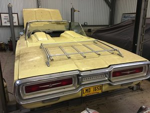1964 ford thunderbird 390 convertible barn stored.