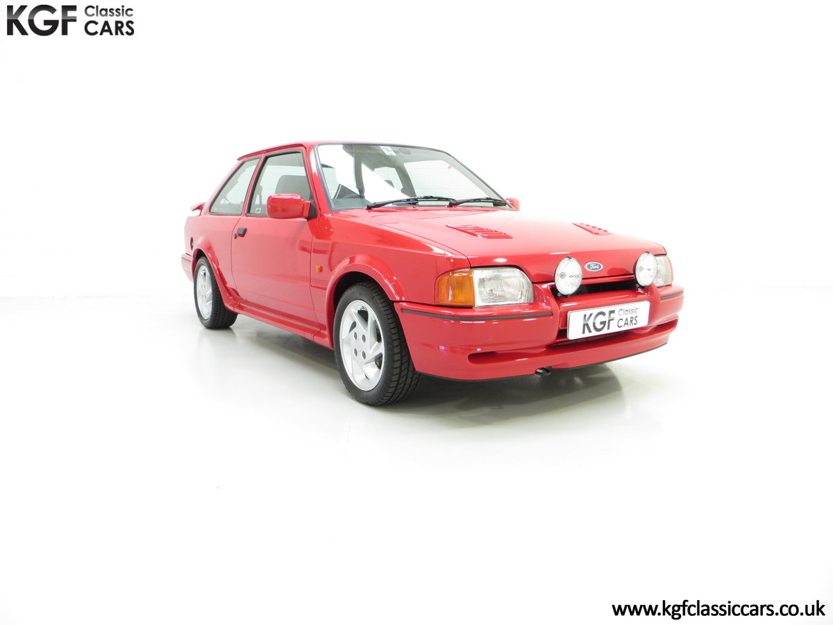 1989 A Desirable 90 Spec Ford Escort RS Turbo with Only Two Owner SOLD (picture 1 of 6)