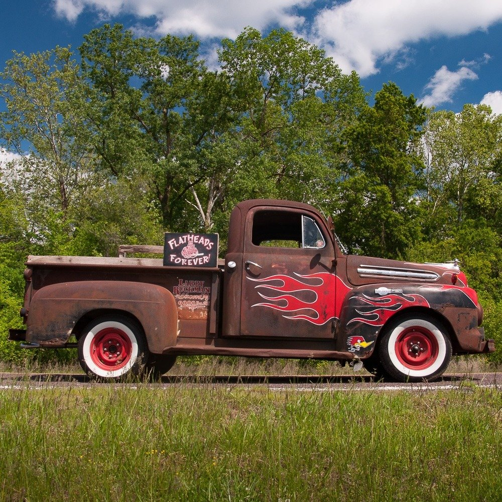 1951 Ford F-1 Pickup Truck = Custom Restomod FlatHead V-8