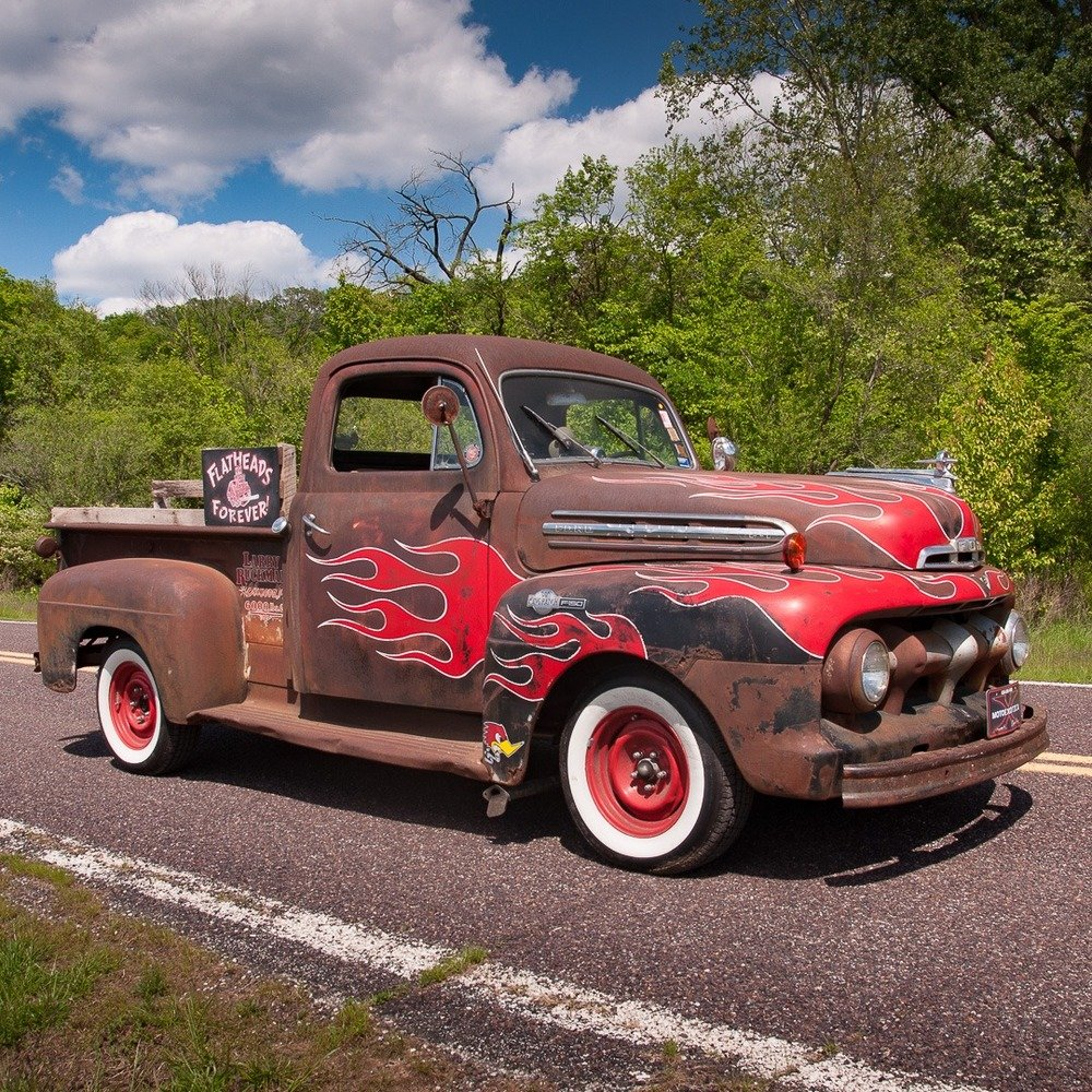 1951 Ford F-1 Pickup Truck = Custom Restomod FlatHead V-8 For Sale (picture 3 of 5)