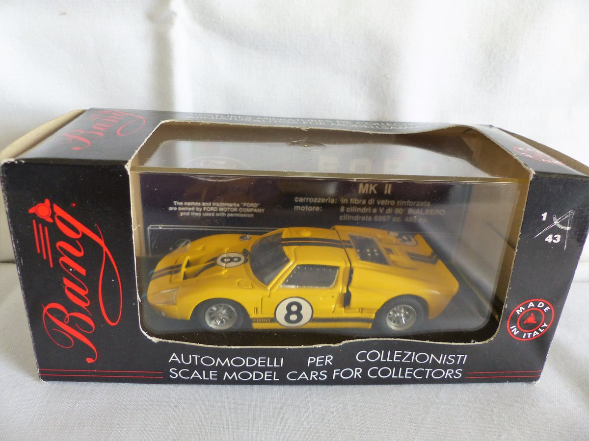 1966 BANG 1:43 SCALE MODEL-FORD MK 11-LE MANS  CAR # 8 For Sale (picture 1 of 6)