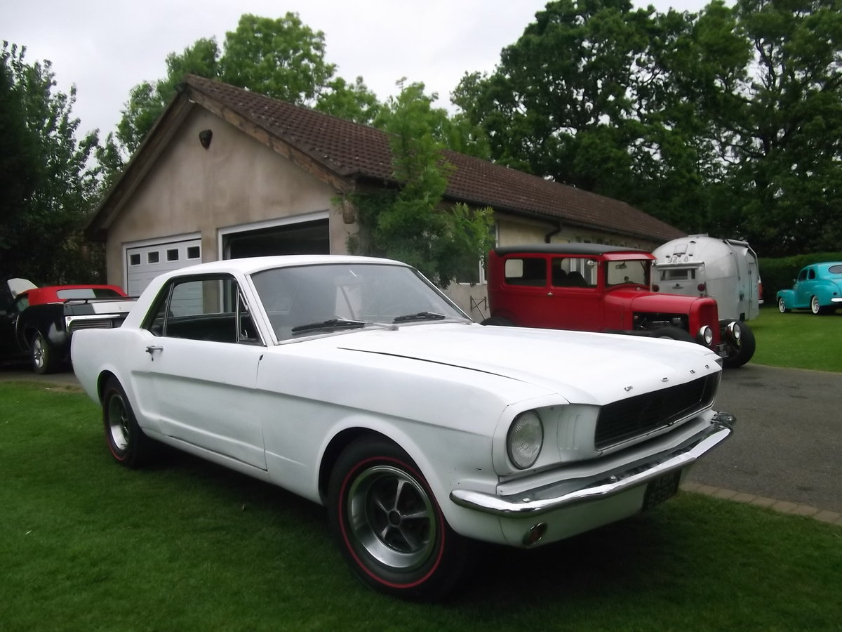 1966 Mustang Coupe 289 V8, C Code, Manual Unfinished Project For Sale (picture 1 of 6)